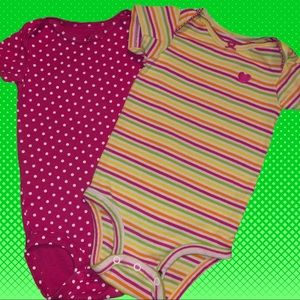 Carters set of two onesies! Cute and nwot!